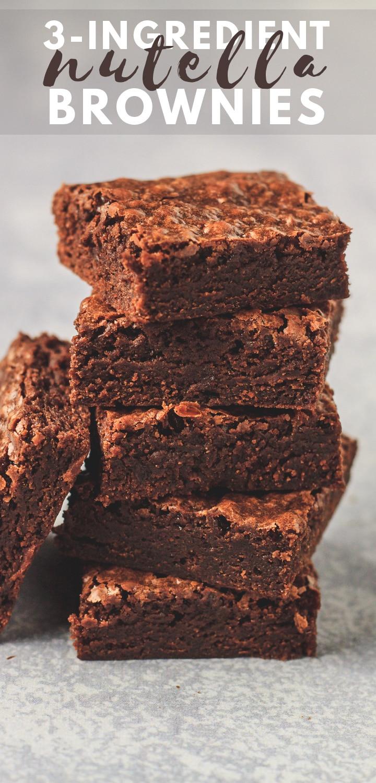 Easy 3 Ingredient Nutella Brownies
