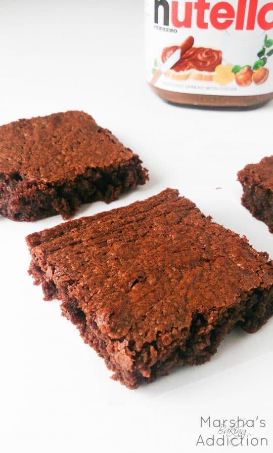 3 Ingredient Nutella Brownies | Marsha's Baking Addiction