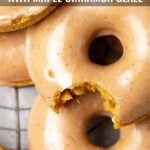 Baked Pumpkin Doughnuts with Maple Cinnamon Glaze
