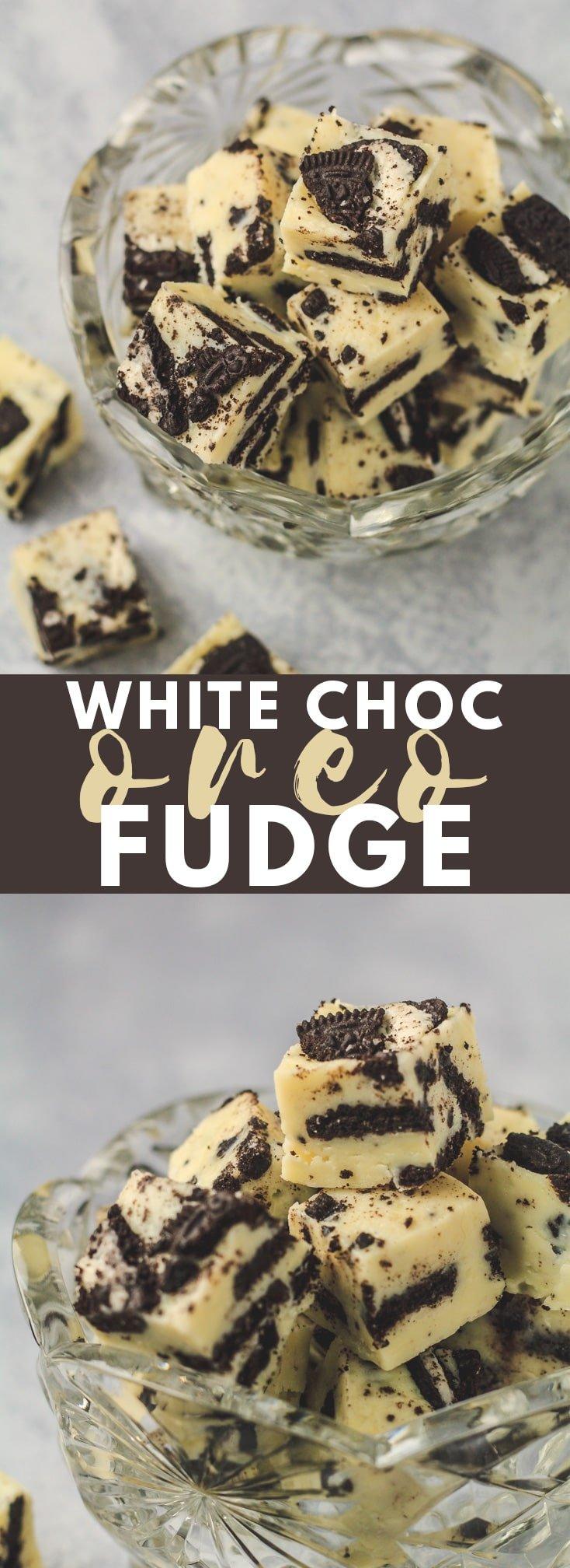 White Chocolate Oreo Fudge