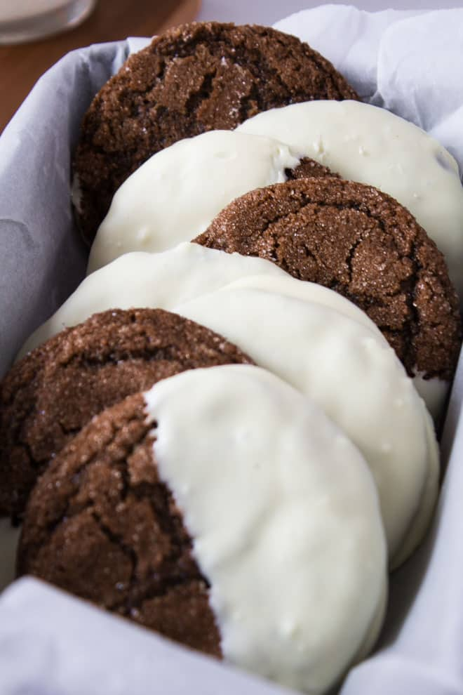 White Chocolate Dipped Ginger Cookies | Marsha's Baking Addiction