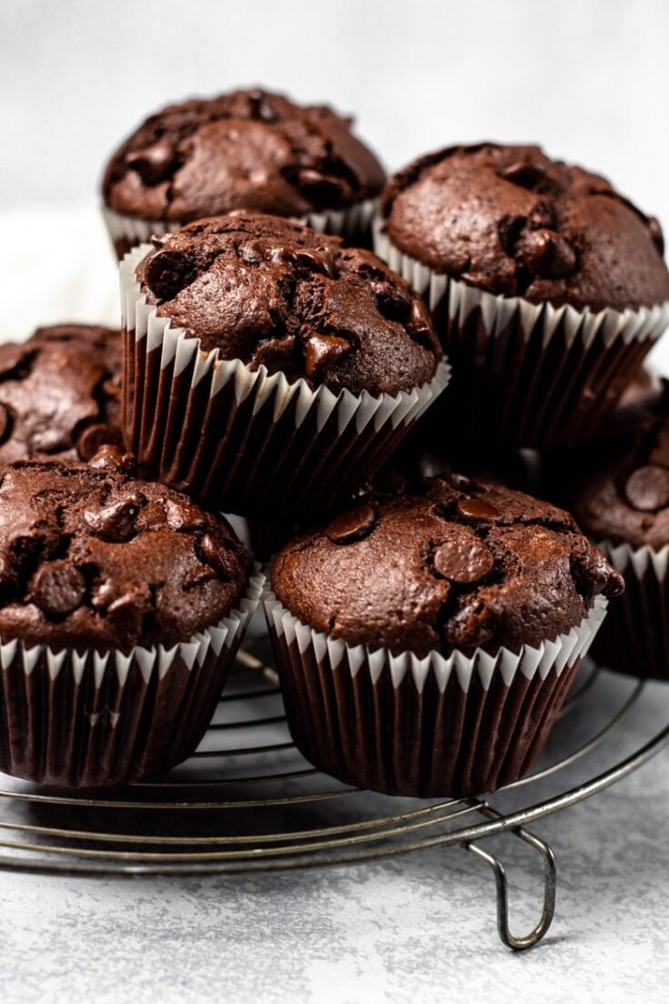 Nutella Stuffed Double Chocolate Muffins Marsha S Baking Addiction