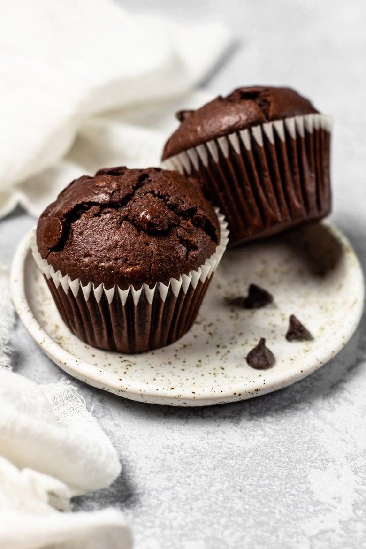 Nutella Stuffed Double Chocolate Muffins
