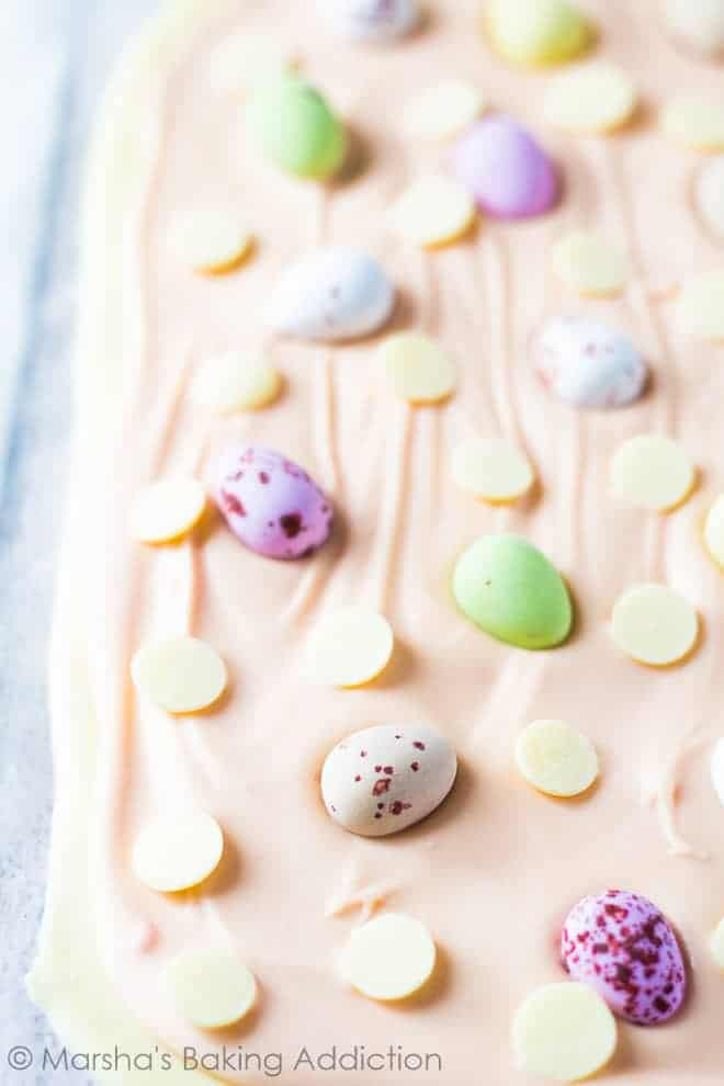 White Chocolate Easter Bark | Marsha's Baking Addiction