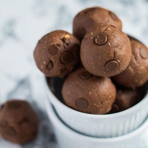 No-Bake Nutella Protein Balls