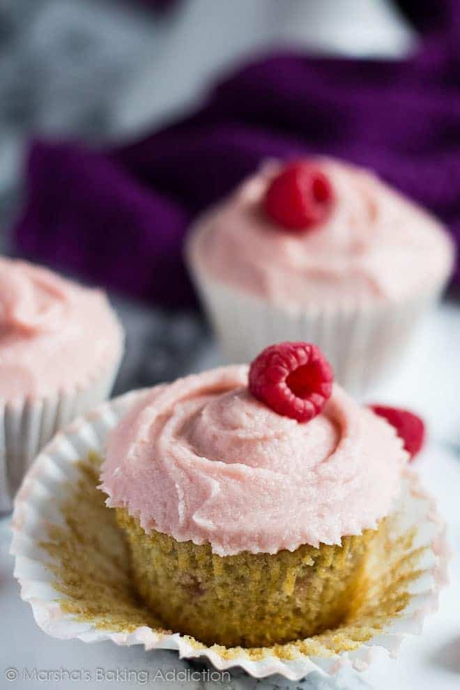 Raspberry Ripple Cupcakes | Marsha's Baking Addiction