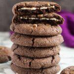 Cheesecake Stuffed Double Chocolate Cookies | Marsha's Baking Addiction