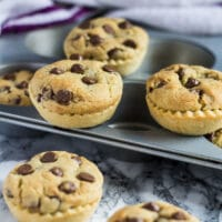 Mini Nutella Stuffed Chocolate Chip Cookie Pies