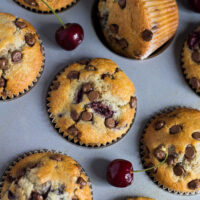 Chocolate Chip Cherry Muffins