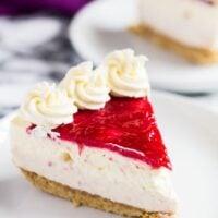 No-Bake White Chocolate Raspberry Cheesecake