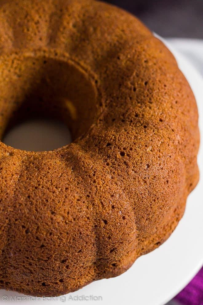 Cheesecake Swirl Carrot Bundt Cake | marshasbakingaddiction.com @marshasbakeblog