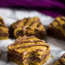 Nutella Stuffed Pumpkin Cookie Bars