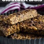 No-Bake Chocolate Chip Peanut Butter Granola Bars