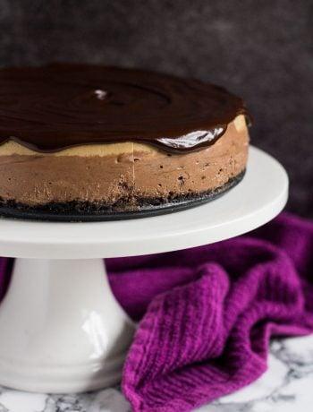 Layered Mocha Cheesecake | marshasbakingaddiction.com @marshasbakeblog