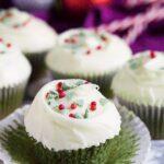 Green Velvet Cupcakes | marshasbakingaddiction.com @marshasbakeblog