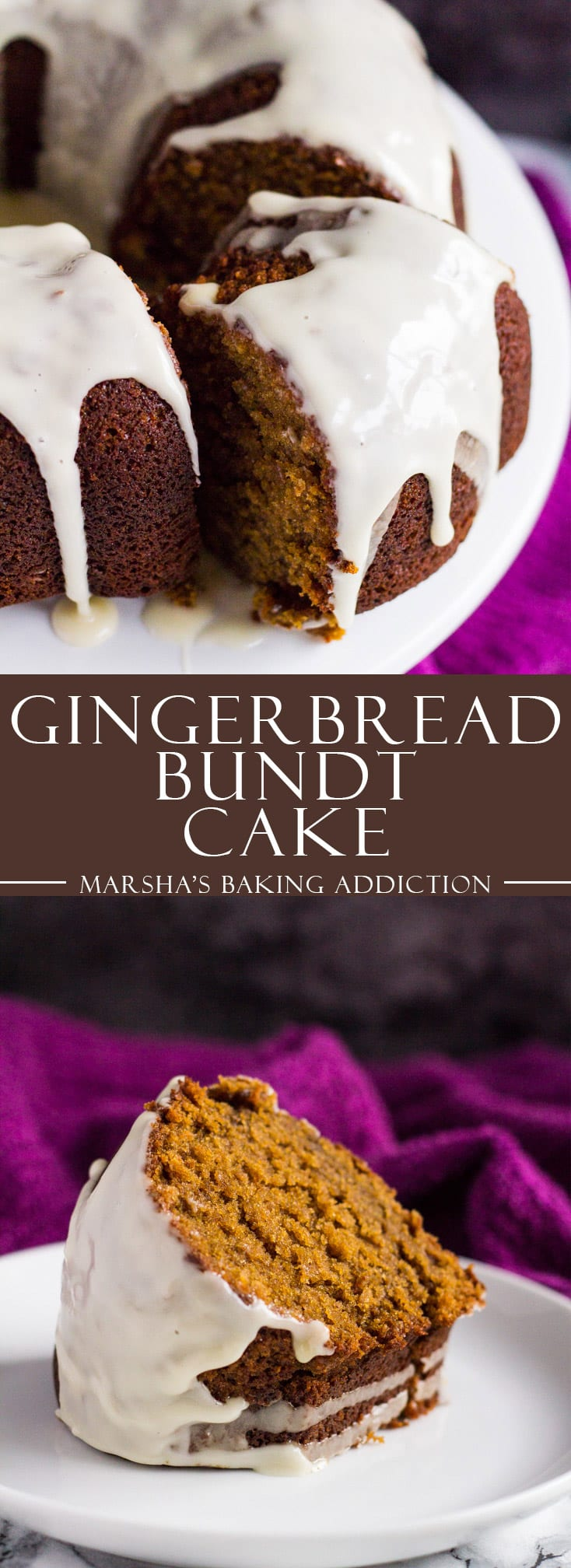 Gingerbread Bundt Cake | marshasbakingaddiction.com @marshasbakeblog