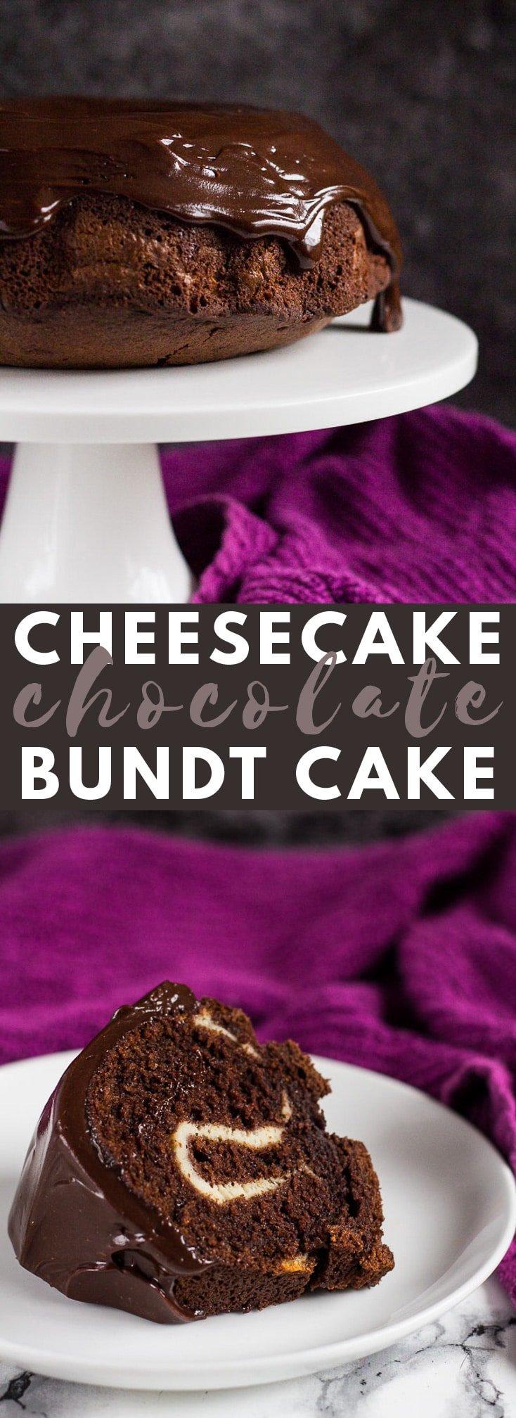 Cheesecake Swirl Chocolate Bundt Cake- Deliciously moist and fluffy chocolate Bundt cake, swirled with a thick and creamy vanilla cheesecake centre! #chocolatecake #bundtcake #cakerecipes