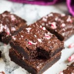 Peppermint Mocha Brownies | marshasbakingaddiction.com @marshasbakeblog