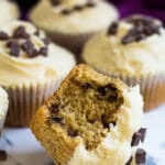 Chocolate Chip Peanut Butter Cupcakes