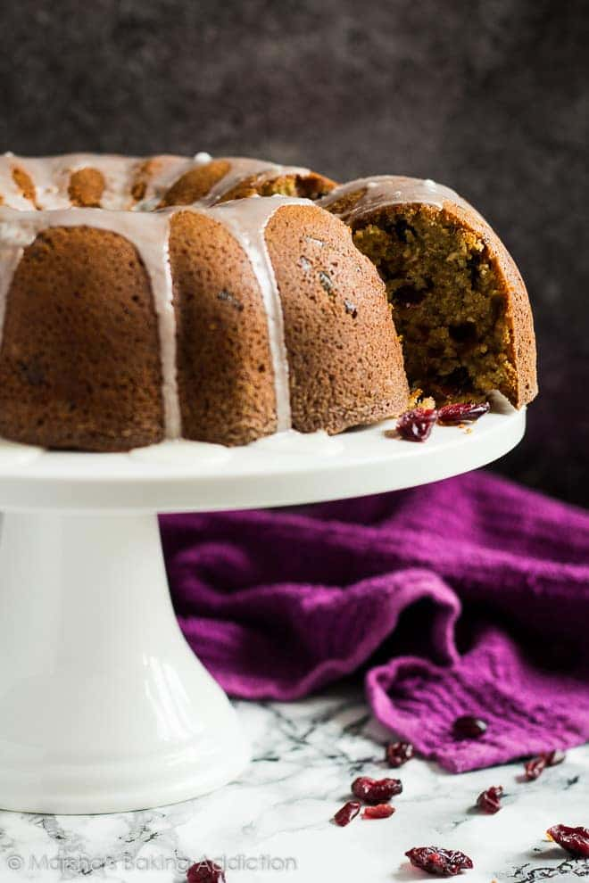 Cranberry Orange Bundt Cake | marshasbakingaddiction.com @marshasbakeblog