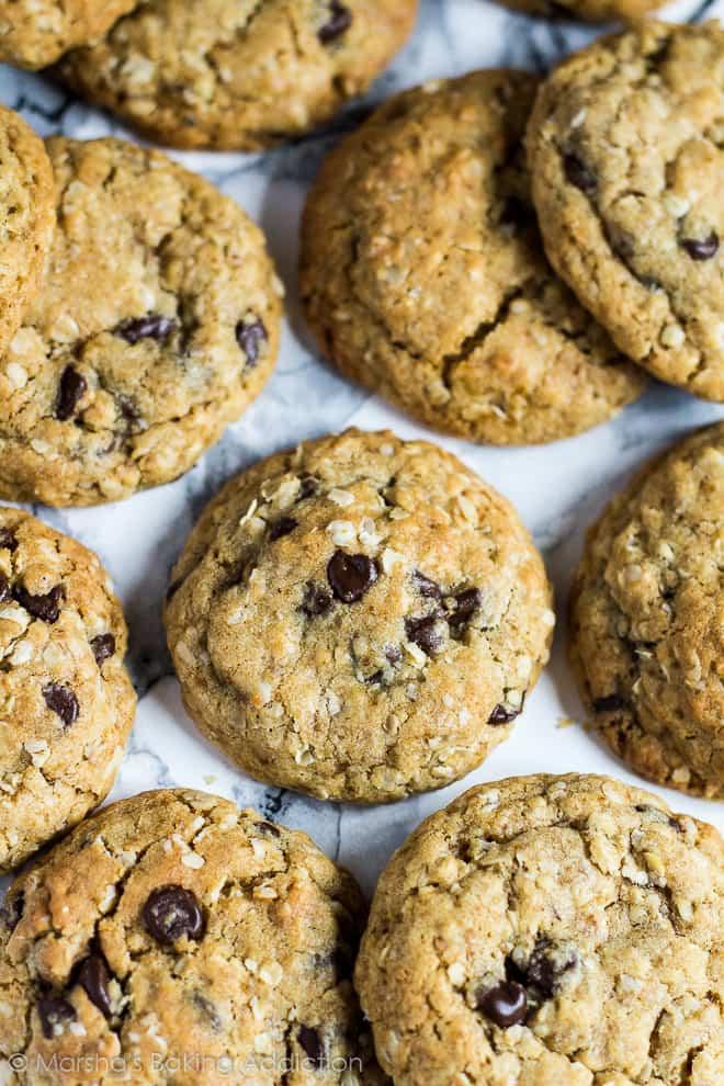 Healthier Chocolate Chip Cookies   marshasbakingaddiction.com @marshasbakeblog