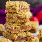 Strawberry Lemon Crumb Bars | marshasbakingaddiction.com @marshasbakeblog
