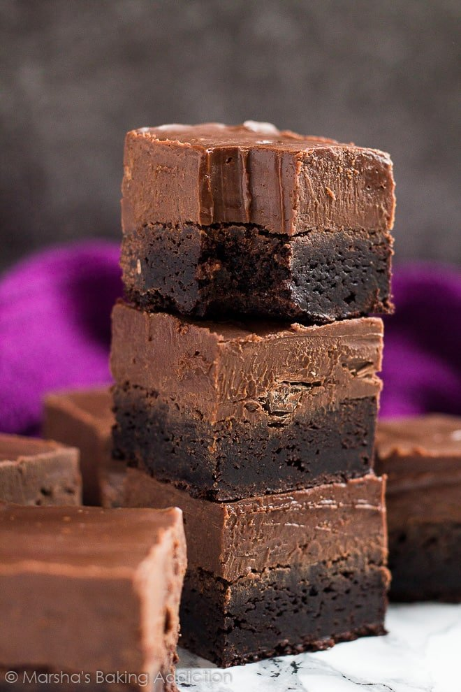 Nutella Fudge Brownies | marshasbakingaddiction.com @marshasbakeblog