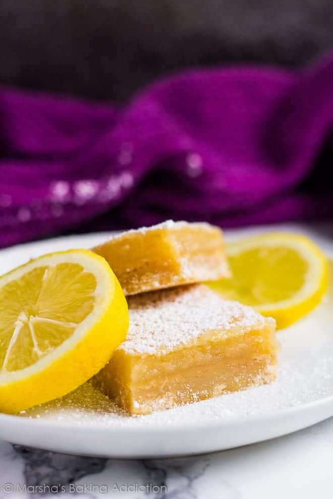 Lemon Bars | marshasbakingaddiction.com @marshasbakeblog