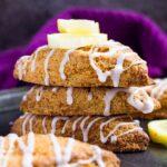Lemon Drizzle Scones | marshasbakingaddiction.com @marshasbakeblog