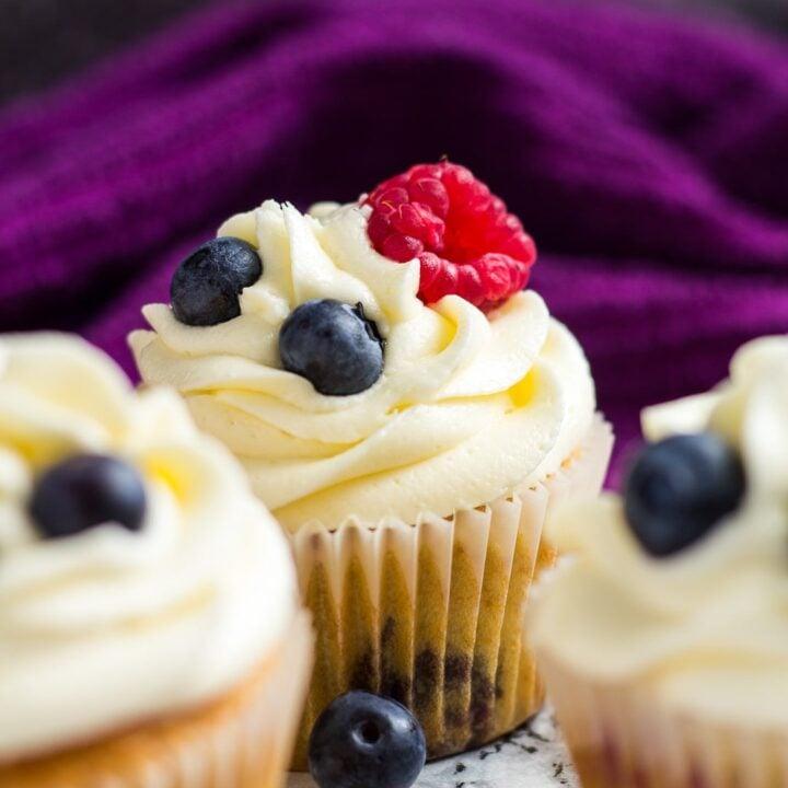 Summer Berries Cupcakes