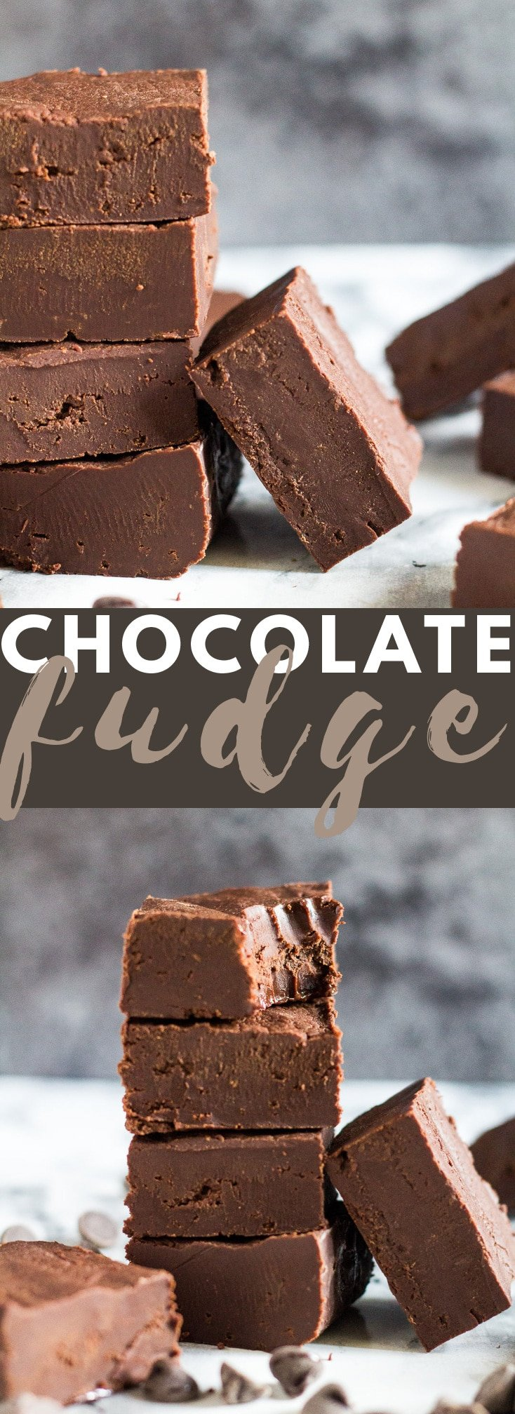 Easy Chocolate Fudge - Incredibly easy and deliciously creamy chocolate fudge that only requires 4 ingredients to make! #chocolate #fudge #fudgerecipes