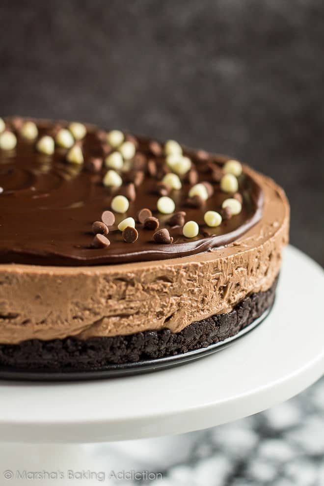 No Bake Double Chocolate Cheesecake Marshas Baking Addiction