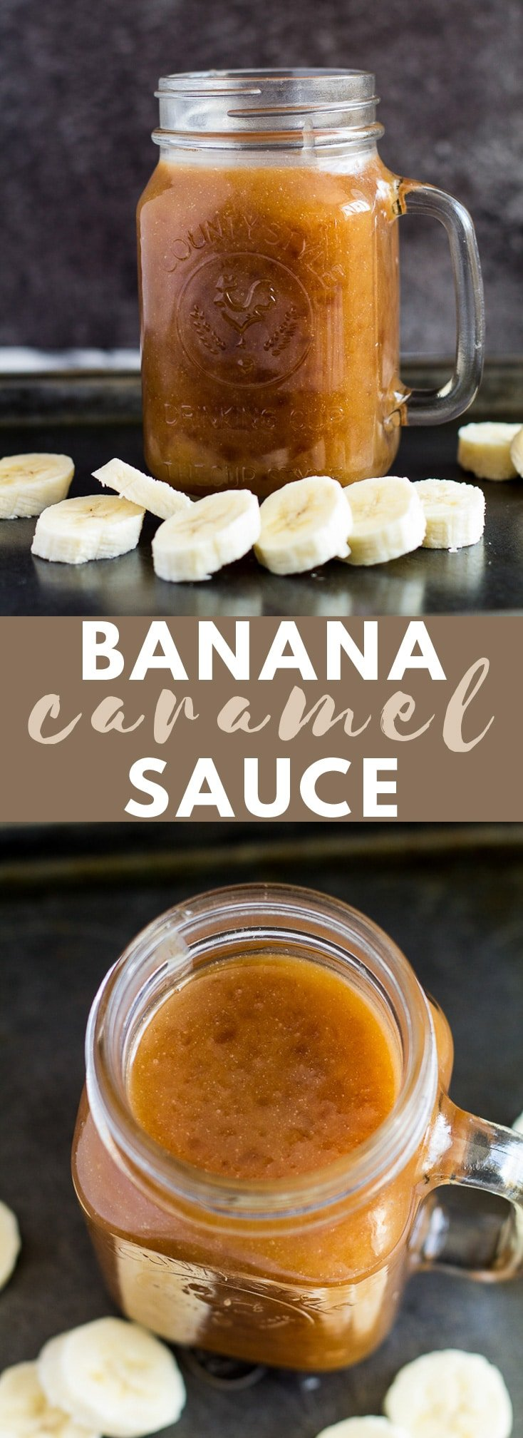 Banana Caramel Sauce - This deliciously sweet caramel sauce is made with just 5 simple ingredients, and is loaded with banana flavour! #banana #caramelsauce #bananarecipes
