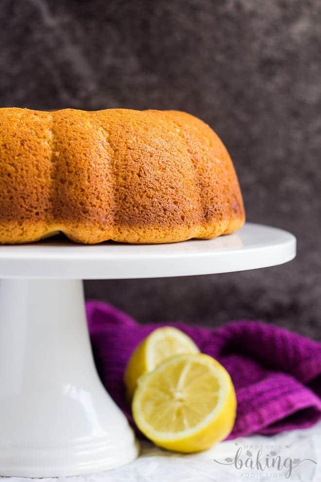 Cheesecake Swirl Lemon Bundt Cake   marshasbakingaddiction.com @marshasbakeblog