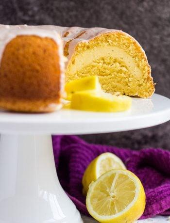 Cheesecake Swirl Lemon Bundt Cake | marshasbakingaddiction.com @marshasbakeblog