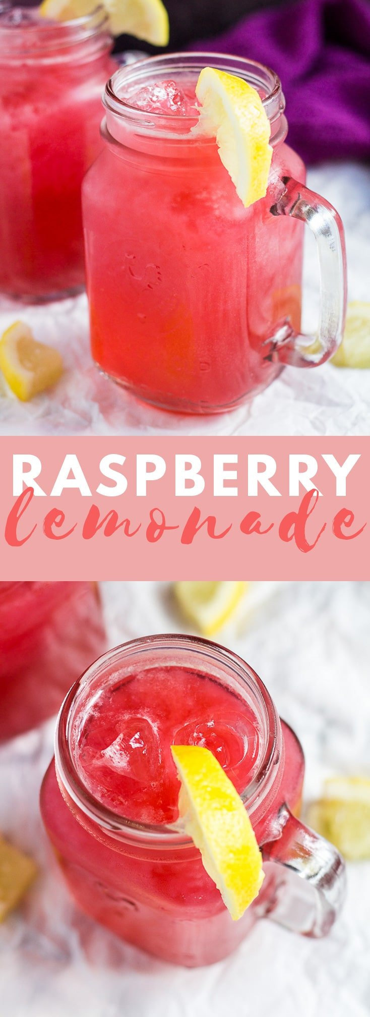 Raspberry Lemonade - Deliciously cool and refreshing raspberry lemonade made with fresh raspberries and lemons. Perfect for hot summer days!