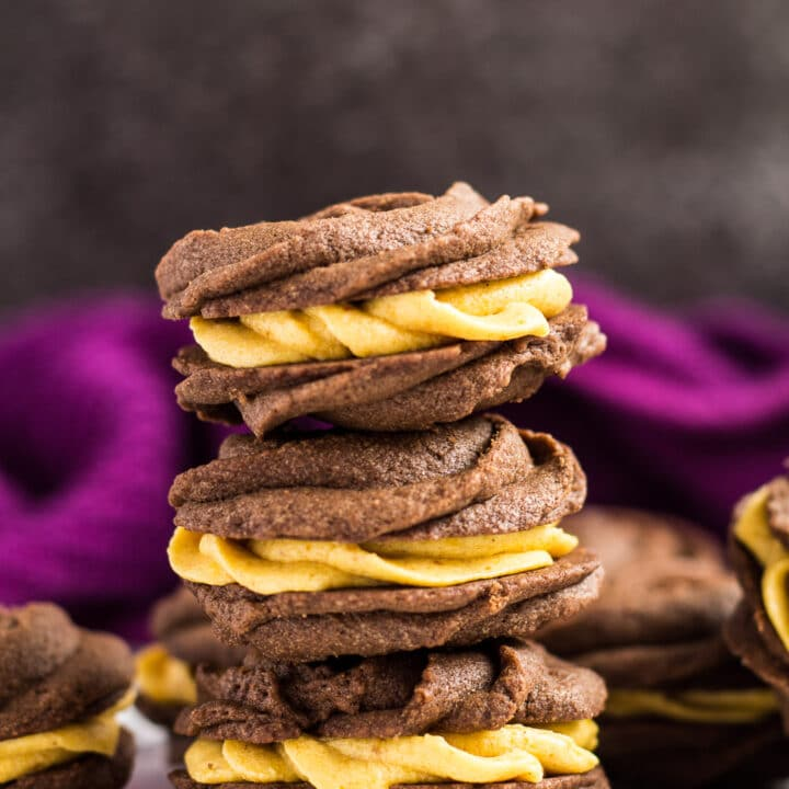 Chocolate Pumpkin Viennese Whirls