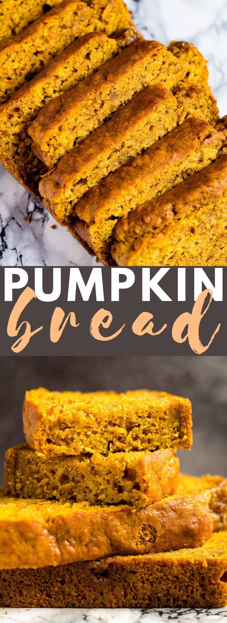 Pumpkin Bread - This incredibly moist pumpkin bread that is perfectly spiced is the BEST way to kick-start your autumn! #pumpkinbread #breadrecipes