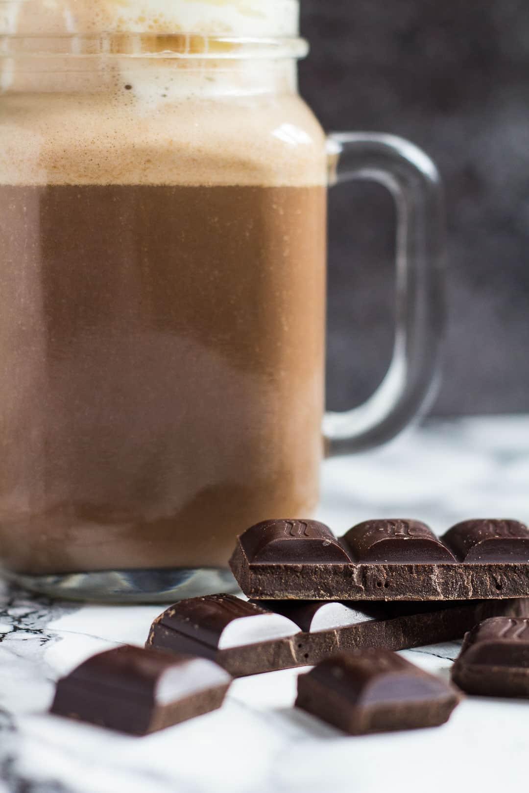 Spiced Chocolate Eggnog - Deliciously thick and creamy, perfectly spiced CHOCOLATE eggnog that tastes amazing hot or cold! | marshasbakingaddiction.com | @marshasbakeblog