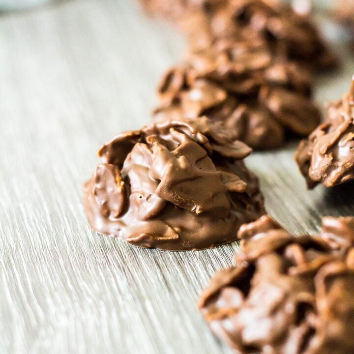 Chocolate Peanut Butter Cornflake Cookies.
