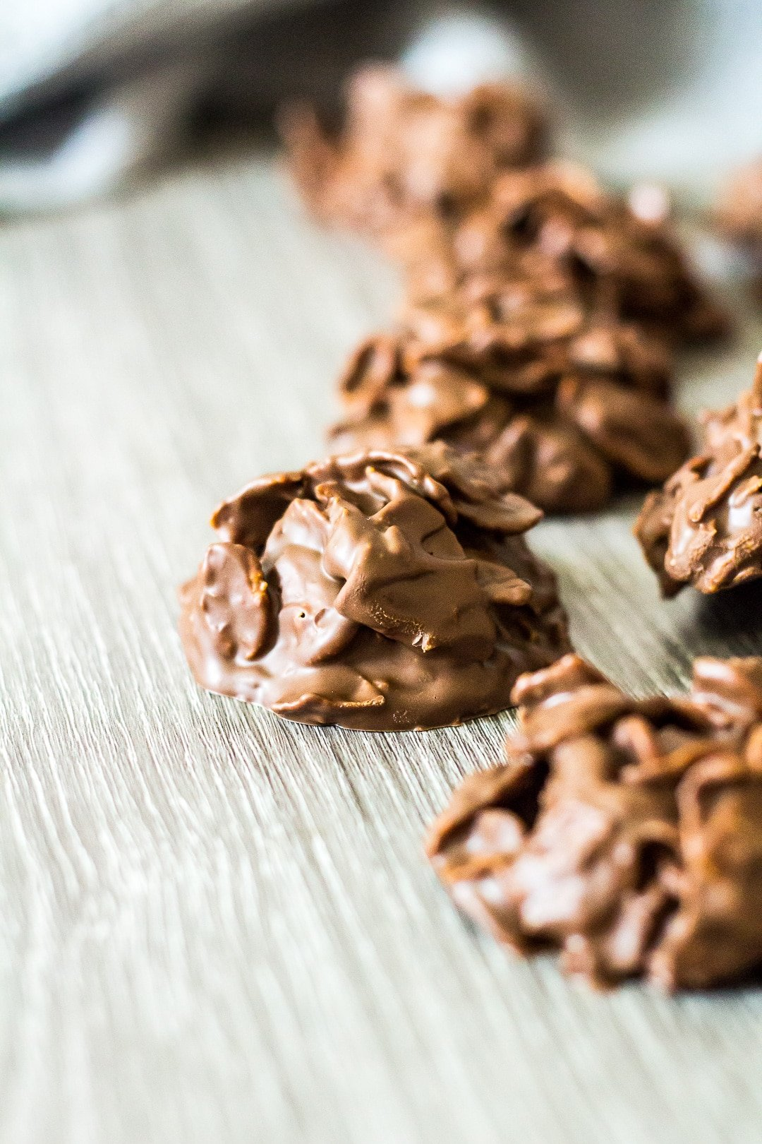 Chocolate Peanut Butter Cornflake Cookies.