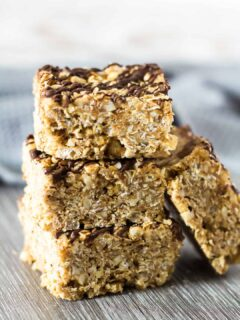 No-Bake Almond Butter Breakfast Bars