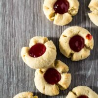 Peanut Butter & Jam Thumbprint Cookies