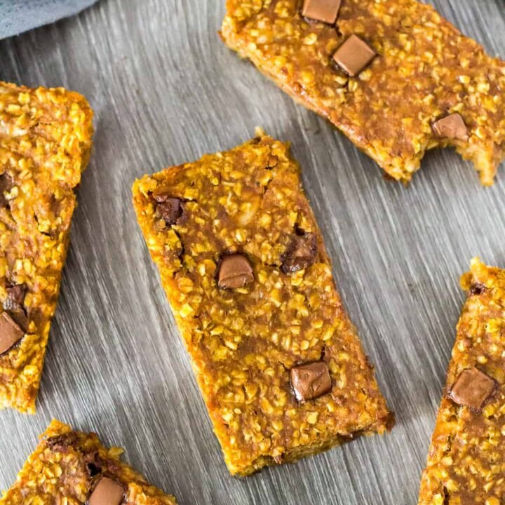 Pumpkin Banana Breakfast Bars