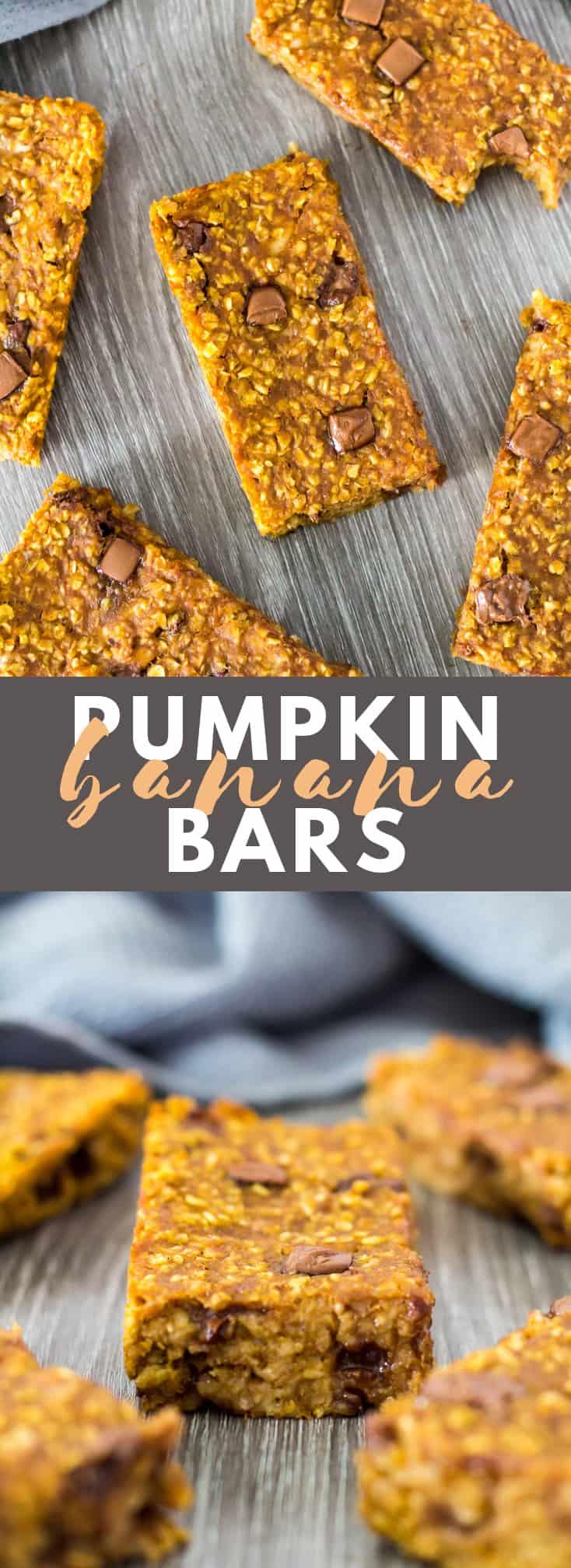 Pumpkin Banana Breakfast Bars