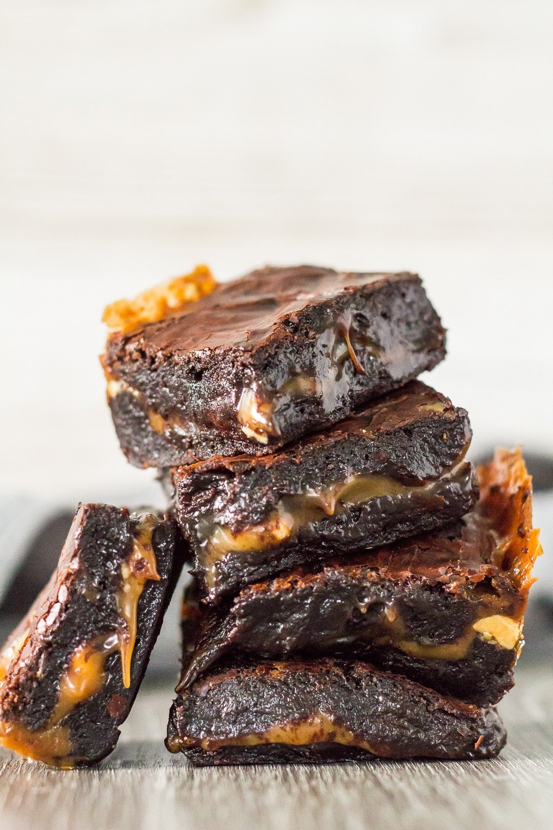 Nutty Caramel Brownies