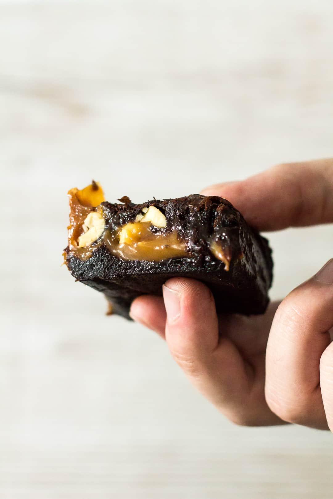 Nutty Caramel Brownies