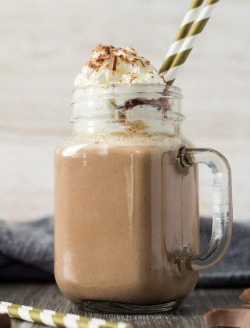 pumpkin spice hot chocolate 2 350x460 How To Make A Coffee Milkshake With Vanilla Ice Cream