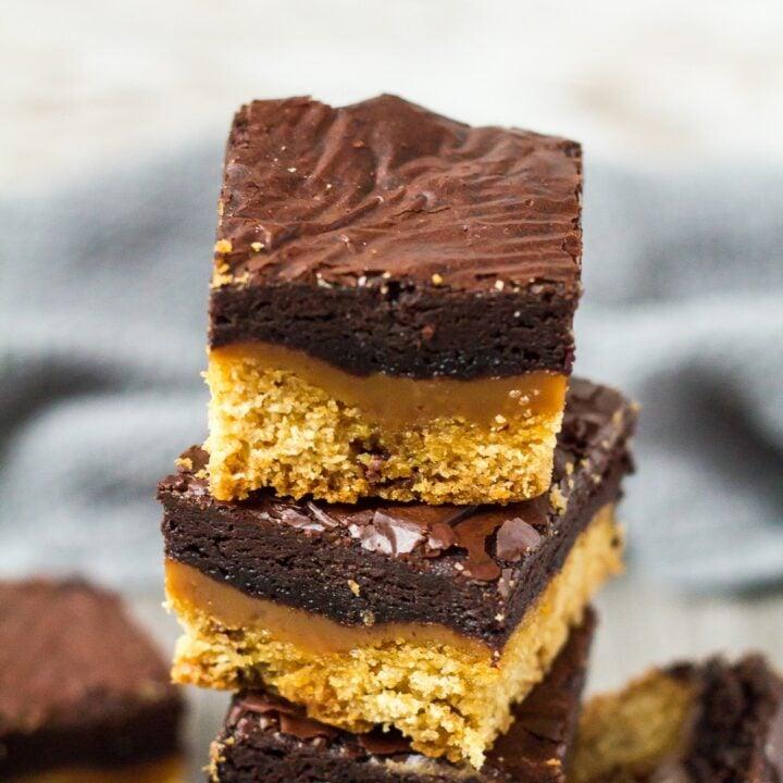 Chocolate Chip Cookie Caramel Brownies