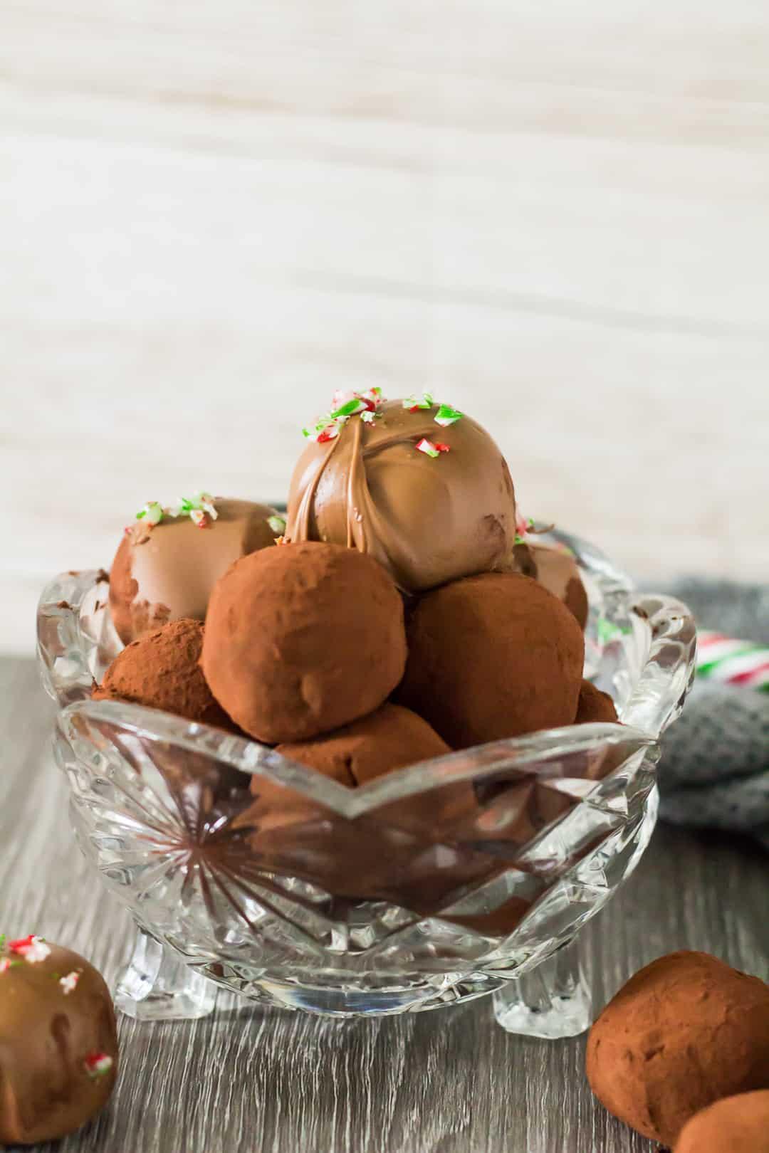 Peppermint Chocolate Truffles